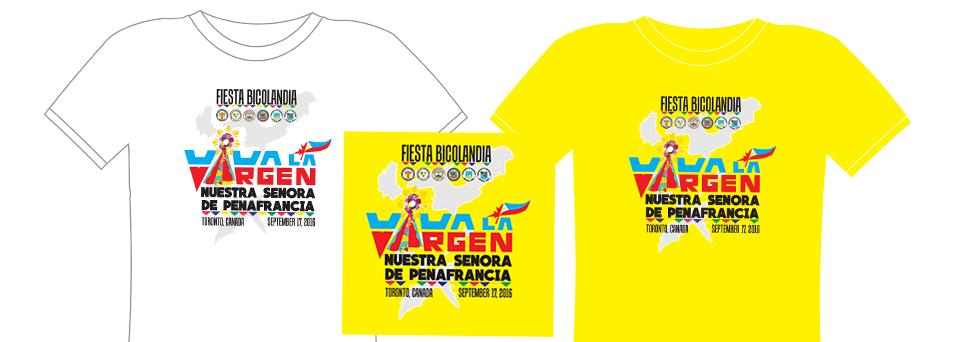 T Shirt Design Toronto | T Shirt Design For 2016 Our Lady Of Penafrancia Festival Toronto